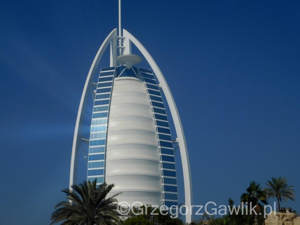 Dubaj Słynny Hotel Burj Al Arab Plaża Jumeirah I Zatoka